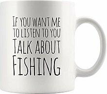Lustige Fischer Geschenkbecher Sprechen Sie über