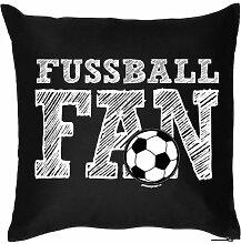 Lustige Fun Geschenkidee für Fußball Fans: Kissenbezug ohne Füllung: Fußball Fan Pencil Sketch