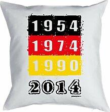 Lustige Fun Geschenkidee für Fußball Fans: Kissenbezug ohne Füllung: Weltmeisterschaftstitel 1954 - 2014!