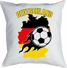 Lustige Fun Geschenkidee für Fußball Fans: Kissenbezug ohne Füllung: Deutschland Flaming Sho