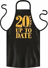Lustige Fun Geschenkidee zum 20. Geburtstag: Koch-/Grillschürze: 20 Jahre Up to Date