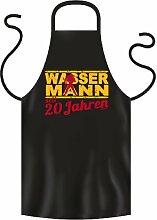 Lustige Fun Geschenkidee zum 20. Geburtstag: Sternzeichen Koch-/Grillschürze: Wassermann seit 20 Jahren