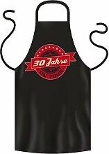 Lustige Fun Geschenkidee zum 30. Geburtstag: Koch-/Grillschürze: 30 Jahre on Tour Graffiti Hipster Style Logo