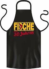 Lustige Fun Geschenkidee zum 30. Geburtstag: Sternzeichen Koch-/Grillschürze: Fische seit 30 Jahren