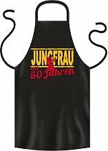 Lustige Fun Geschenkidee zum 50. Geburtstag: Sternzeichen Koch-/Grillschürze: Jungfrau seit 50 Jahren