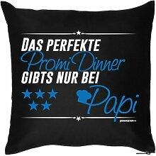 Lustige Fun Geschenkidee zum Geburtstag/Vatertag: Kissenbezug ohne Füllung: Perfektes Promi Dinner nur bei Papi