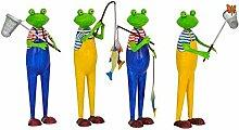 Lustige Gartenfigur/Metallfigur für Garten – 1 Stück (Zufälliges Modell) - Angler - Höhe 48cm - Hochwertige Gartendeko – Metall Tierfigur - Witzige & Dekorative Außenfigur/Anglerfigur