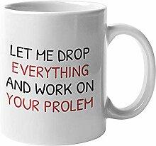 Lustige Geschenke Kaffee-Haferl für Chef,