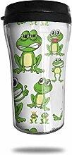 Lustige grüne Frösche Glas Kaffeebecher Travel