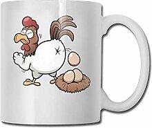 Lustige Henne legen Eier Mode Kaffeetasse