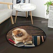 Lustige Hundelesebuch Runde Teppich für