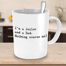 Lustige Jailer Dad Kaffeetasse Jailer Beruf Profi