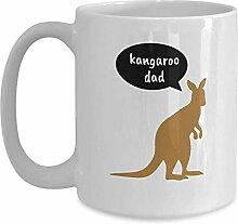 Lustige Känguru Papa Tasse Kaffeetasse