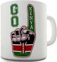 Lustige Kaffee Tasse Becher Go Kenya! Keramiktasse