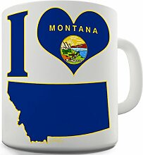 Lustige Kaffee Tasse Becher I Love Montana Keramiktasse
