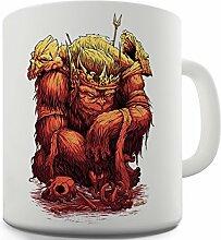 Lustige Kaffee Tasse Becher King Ape