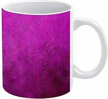 Lustige Kaffeetasse, 425 ml, lila rote Tapete,