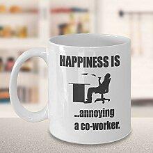 Lustige Kaffeetasse, Geschenkidee für Kollegen