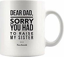 Lustige Kaffeetasse Lieber Papa Tasse von Tochter