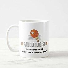 Lustige Kaffeetasse, lustige Ping Pong