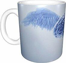 Lustige Kaffeetasse mit Engel-Gehirn,