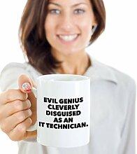Lustige Kaffeetasse mit IT-Techniker,