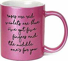 Lustige Kaffeetasse, Motiv Roses are Red Violets