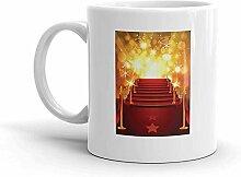Lustige Kaffeetasse - Roter Teppich mit leuchtend