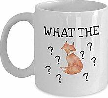 Lustige Kaffeetasse - What The Fox - Lustige