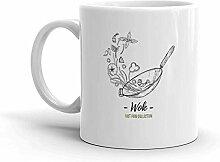 Lustige Kaffeetasse - Wok-Pfanne Chinesische