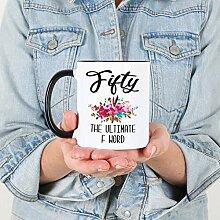 Lustige Kaffeetasse zum 50. Geburtstag,