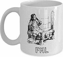 Lustige Kaffeetassen, FML - weiße Kaffeetasse