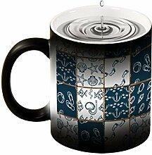 Lustige Keramik-Kaffeetasse, blauer