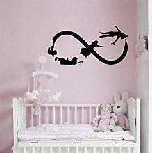 Lustige kreative Peter Pan Wandaufkleber Baby
