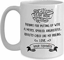 Lustige liebe Mutter Kaffeetasse Teetasse