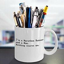 Lustige Marathon Runner Kaffeetasse Best Race