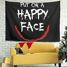 Lustige setzen auf ein HAPPY Gesicht Wandbehang