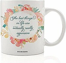 Lustige Shopaholic Kaffeetasse Geschenkidee Frau