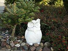 Lustige Stein - Eule Uhu aus Steinguss frostfest Raumdeko Gartendeko
