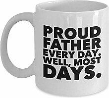 Lustige stolze Vater-Tasse, jeden Tag gut die