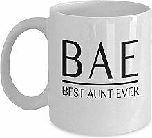 Lustige Tante Mug - BAE beste Tante aller Zeiten
