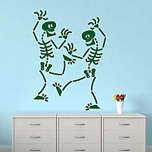 Lustige Tanzstil Skelette Startseite Dekorative Wohnzimmer-Wand-Kunst-Aufkleber
