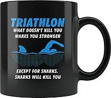 Lustige Tasse für Triathletten, Triathlon,
