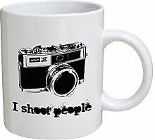 Lustige Tasse – I Shoot People – 325 ml –