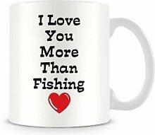 Lustige Valentinsbecher Ich liebe dich mehr als