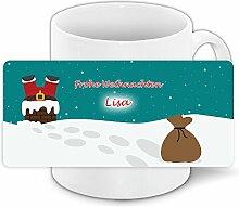 Lustige Weihnachtstasse mit Namen Lisa und