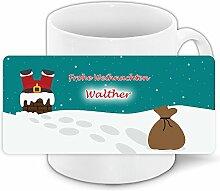 Lustige Weihnachtstasse mit Namen Walther und