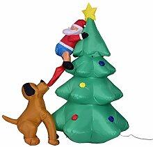 Lustiger aufblasbarer Weihnachtsmann, der auf dem
