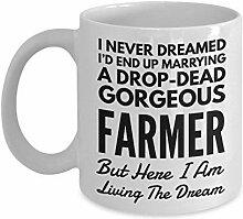 Lustiger Becher für Landwirt Ehefrau oder
