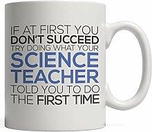 Lustiger Becher für Naturwissenschaftslehrer -
